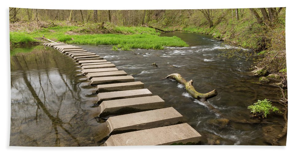 River Bath Sheet featuring the photograph Whitewater River Spring 52 by John Brueske