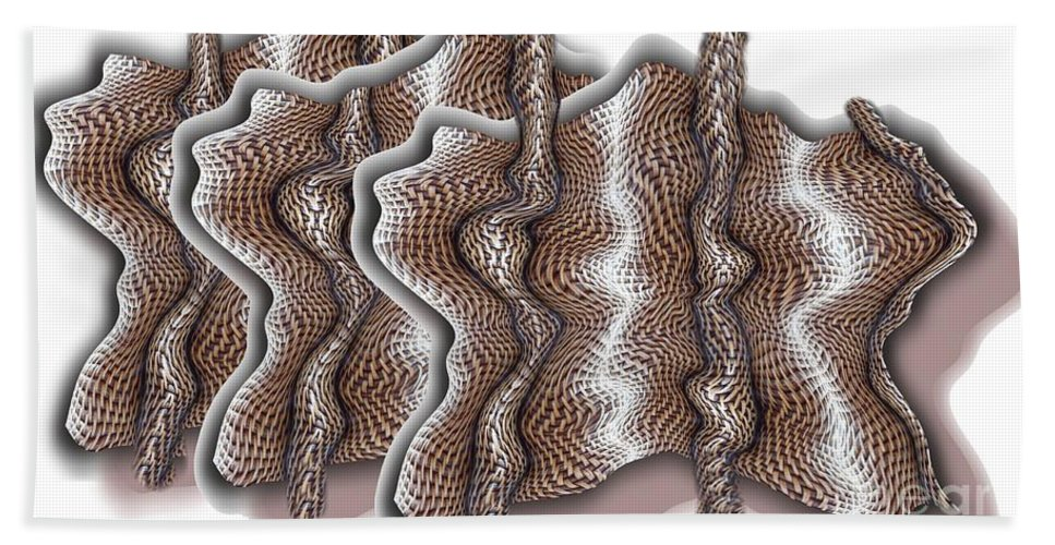 Basket Bath Sheet featuring the digital art Wickered by Ron Bissett