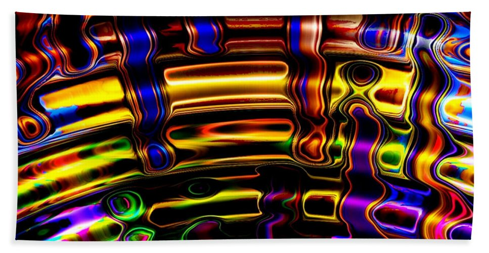 Colorful Bath Sheet featuring the digital art Wide Awake by Robert Orinski