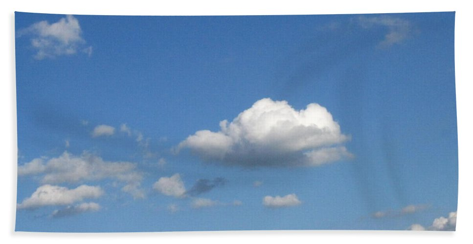 Clouds Bath Towel featuring the photograph Wide Open by Rhonda Barrett