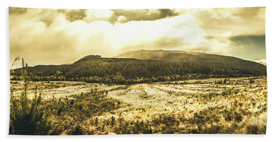 Panoramic Hand Towel featuring the photograph Wide Open Tasmania Countryside by Jorgo Photography - Wall Art Gallery