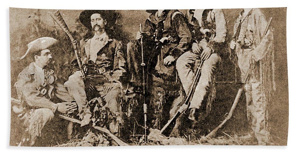 Indian Hand Towel featuring the photograph Wild Bill Hickok, Buffalo Bill by Gary Wonning