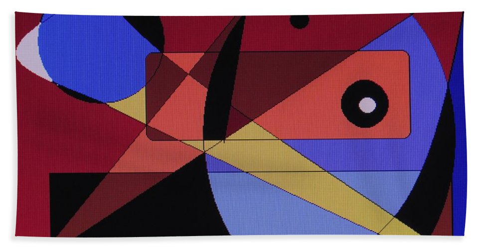 Abstract Bird Bath Towel featuring the digital art Wild Bird by Ian MacDonald