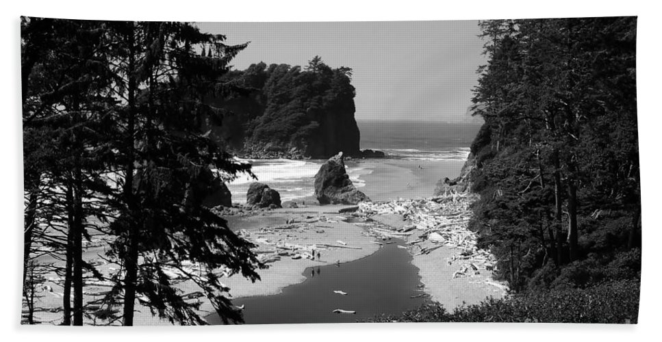 Cove Bath Towel featuring the photograph Wild Cove by David Lee Thompson