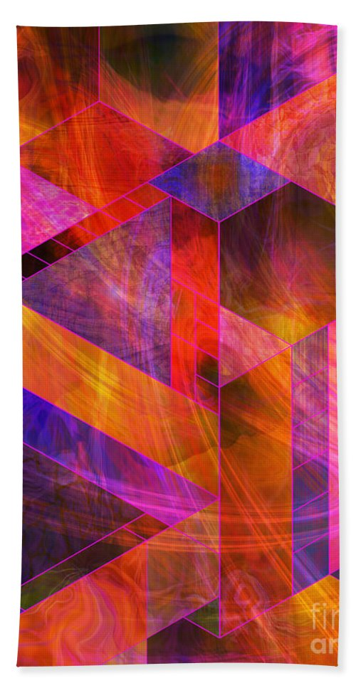 Wild Fire Hand Towel featuring the digital art Wild Fire by John Beck