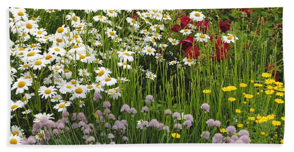 Flowers Bath Sheet featuring the photograph Wild Flowers by Jost Houk