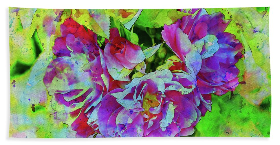 Roses Hand Towel featuring the photograph Wild Roses 3 by Malanda Warner