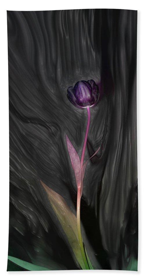 Wild Tulip Bath Sheet featuring the photograph Wild Tulip by Linda Sannuti