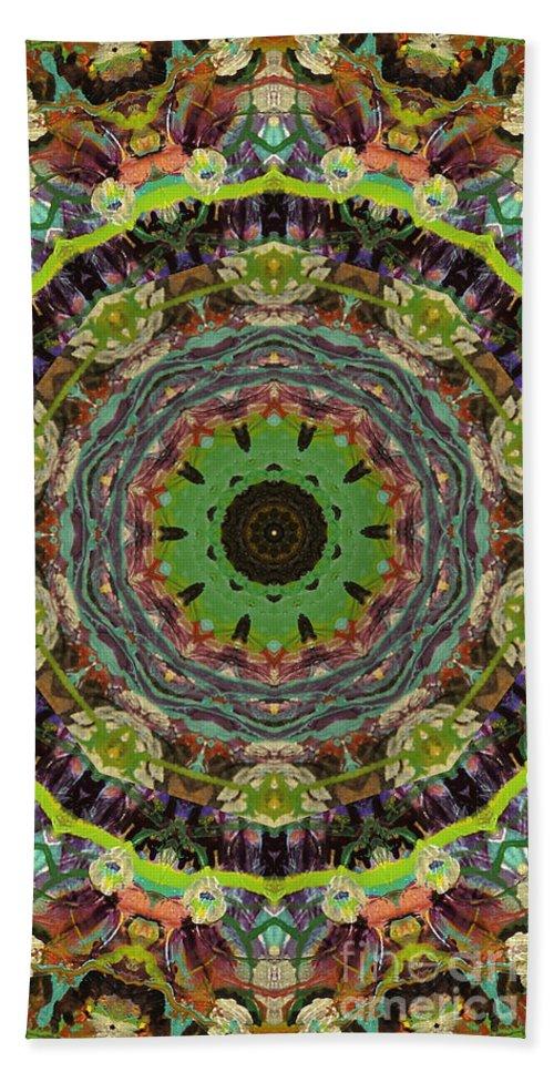 Beautiful Hand Towel featuring the digital art Wilder Flower Mandala by Sandra Gallegos