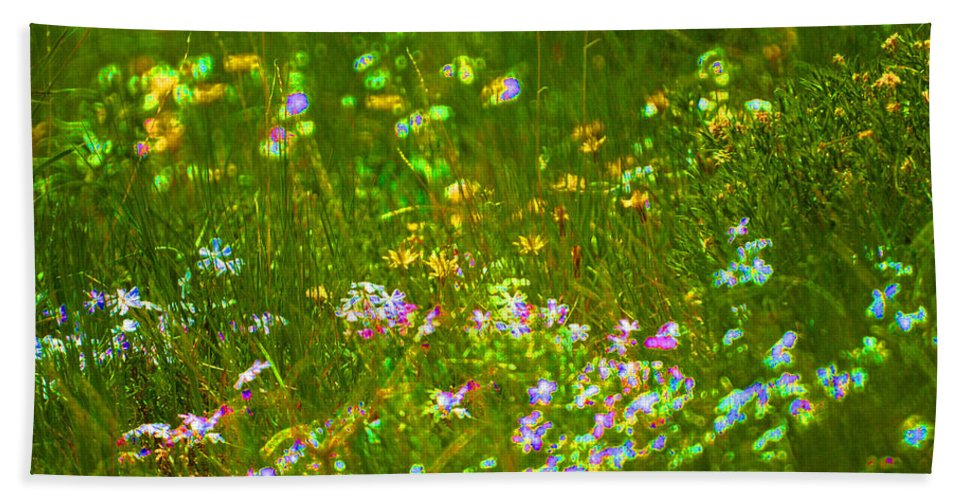 Wildflower Bath Sheet featuring the photograph Wildflower Field by Heather Coen