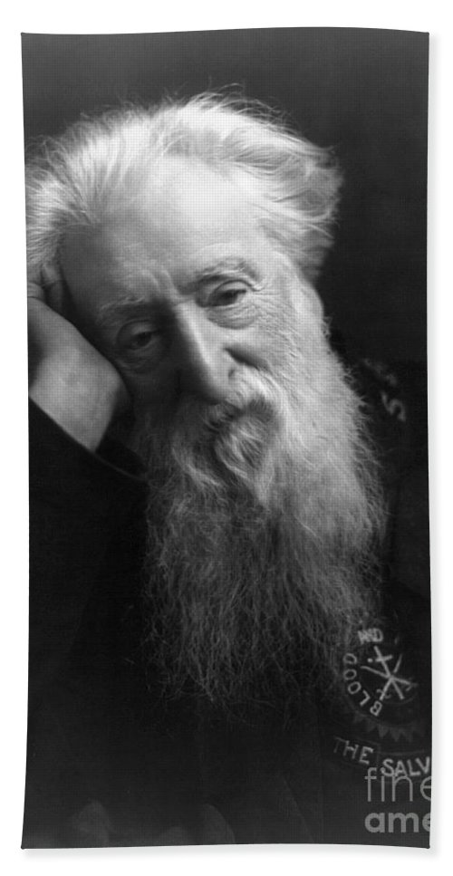 1907 Hand Towel featuring the photograph William Booth (1829-1912) by Granger