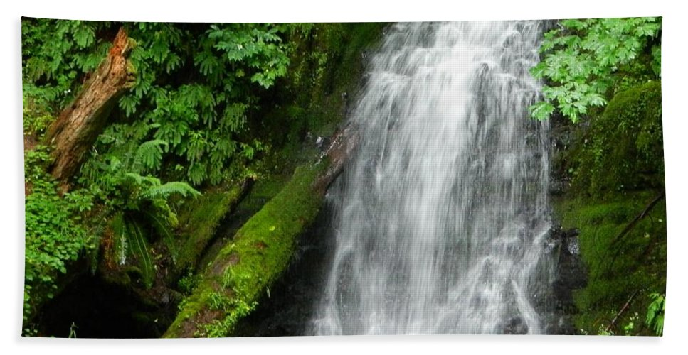 Oregon Hand Towel featuring the photograph Wilson River Hwy Waterfall by Gallery Of Hope