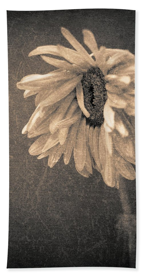 Flower Hand Towel featuring the photograph Wilting In Colour by Tara Turner
