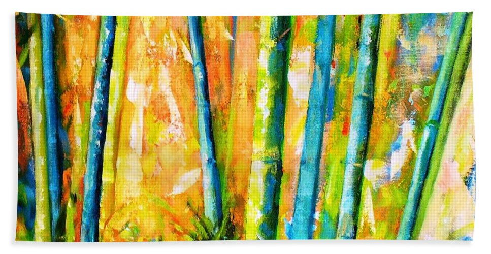 Nature Hand Towel featuring the painting Wind And Fire by Fernanda Cruz