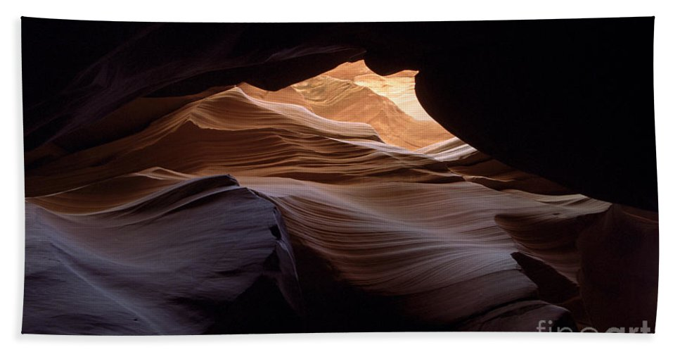 Antelope Canyon Bath Sheet featuring the photograph Wind And Water by Kathy McClure