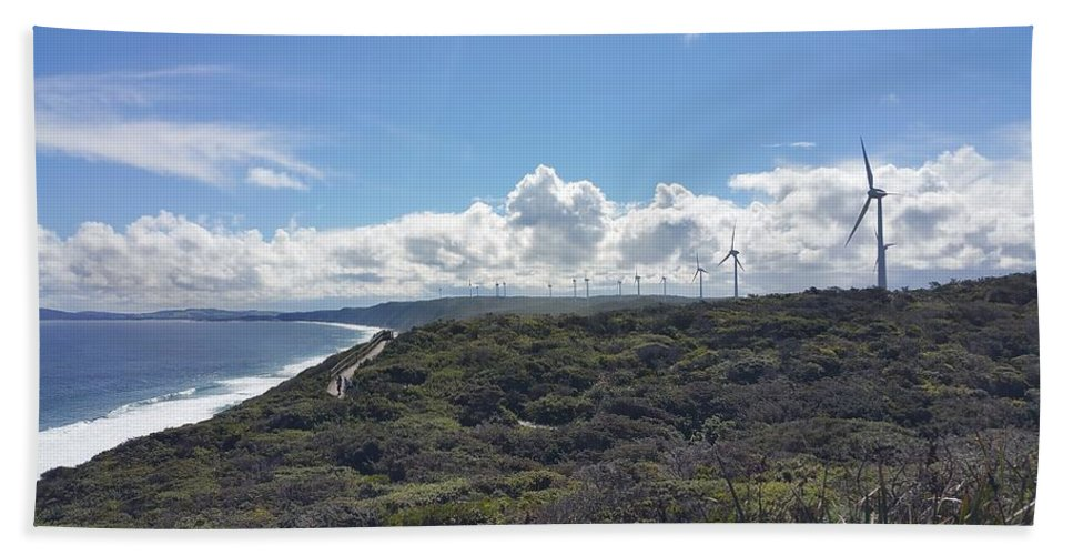 Landscape Hand Towel featuring the photograph Wind Farm by Ruby Kok