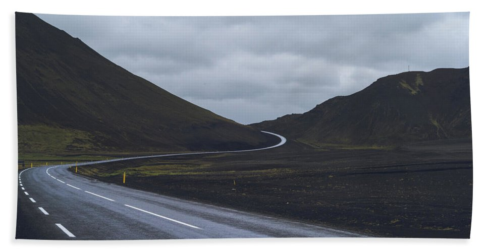 Road Bath Sheet featuring the photograph Winding Roads by Brady Clarke