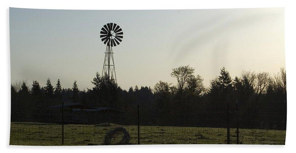 Windmill Bath Sheet featuring the photograph Windmill 1 by Sara Stevenson