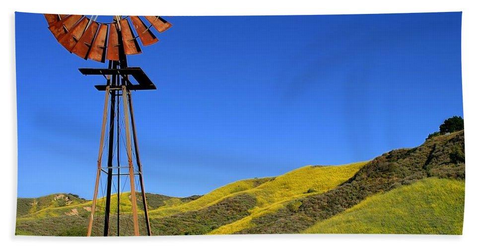 Alternative Bath Sheet featuring the photograph Windmill by Henrik Lehnerer