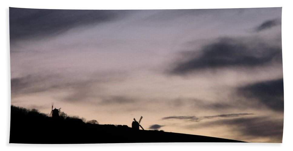 Windmills Hand Towel featuring the photograph Windmills by Maria Joy