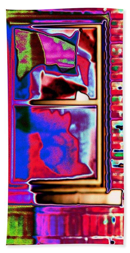 Window Bath Towel featuring the digital art Window 1 by Tim Allen
