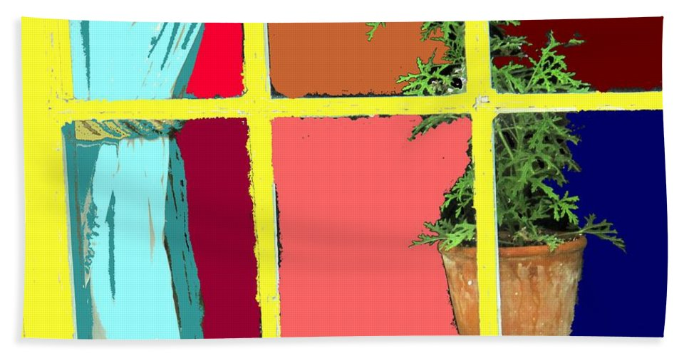 Window Hand Towel featuring the photograph Window by Ian MacDonald