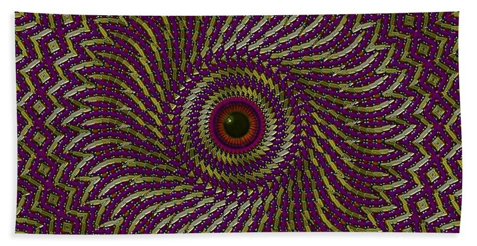 Eye Hand Towel featuring the digital art Window Of The Soul- by Robert Orinski