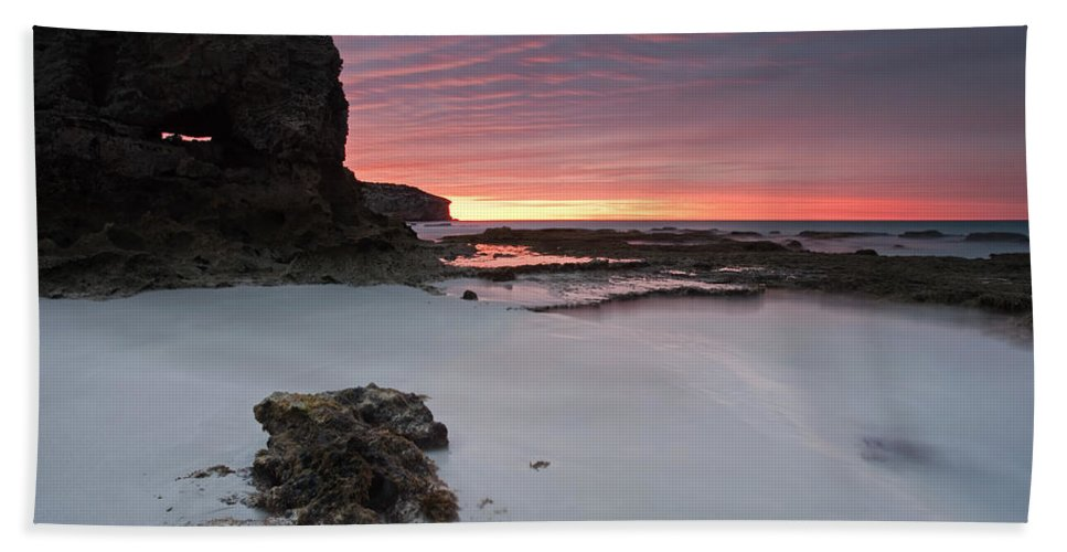 Sunrise Hand Towel featuring the photograph Window On Dawn by Mike Dawson