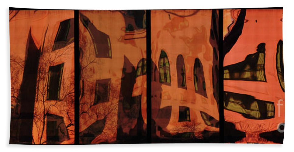 Window Hand Towel featuring the photograph Window Reflections 1 by Frances Hattier