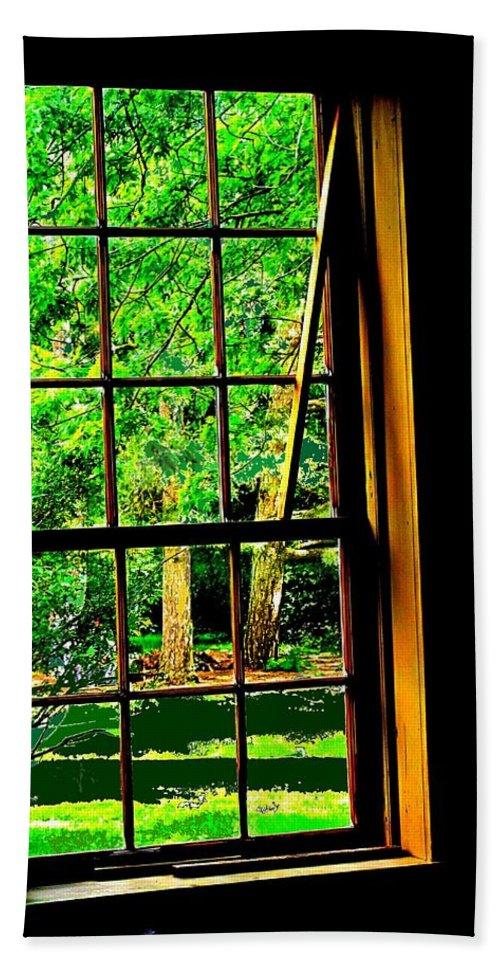 Window Hand Towel featuring the photograph Window To My World by Ian MacDonald