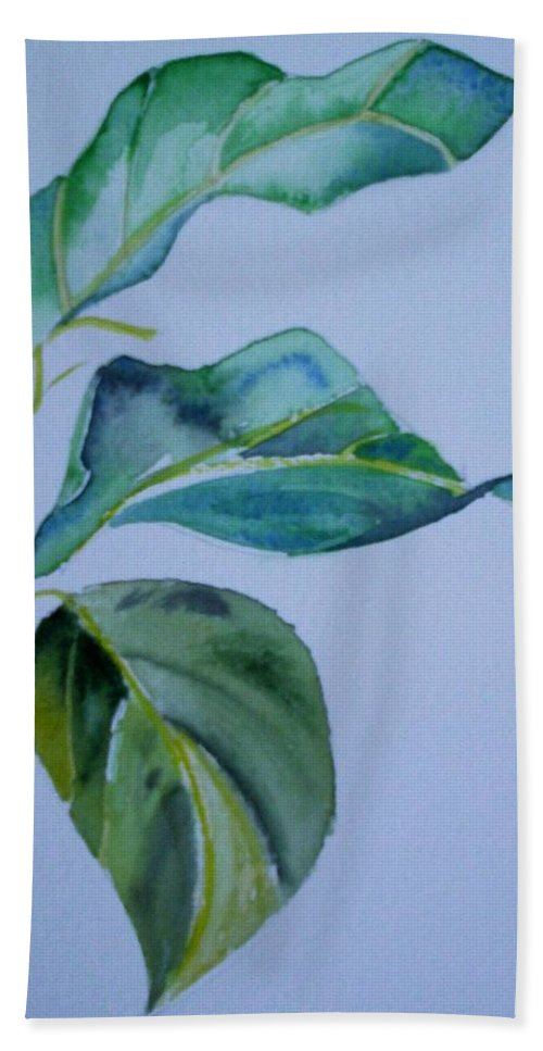 Nature Bath Towel featuring the painting Window View by Suzanne Udell Levinger