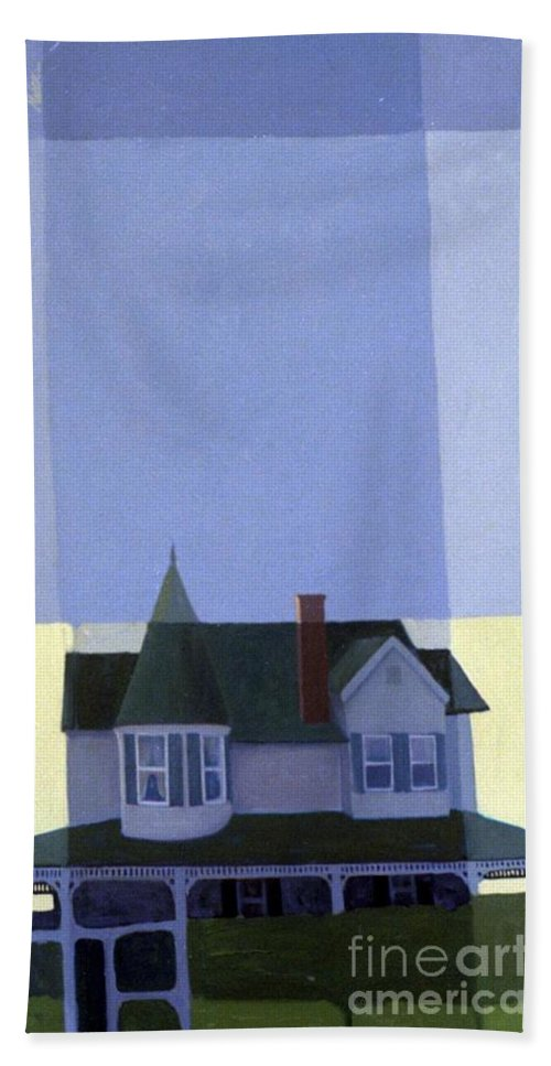 Victorian House Bath Sheet featuring the painting Windows by Donald Maier