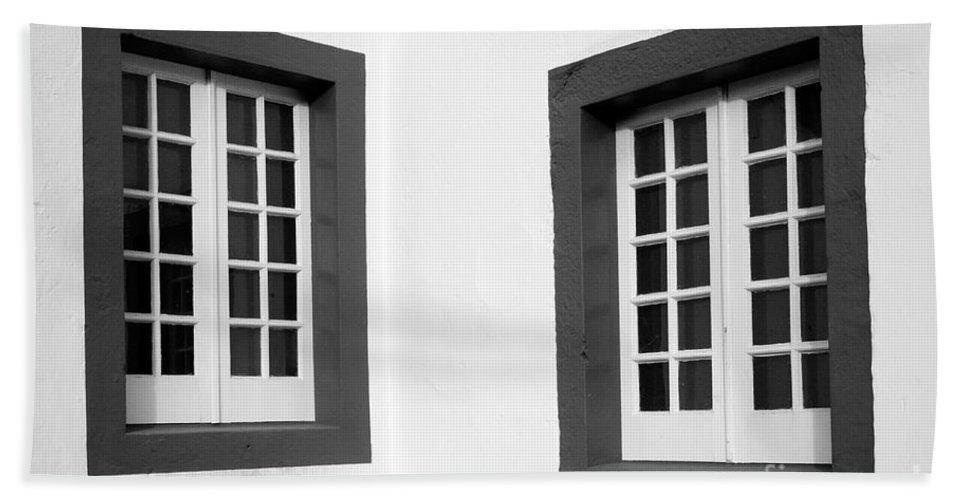 Azores Bath Towel featuring the photograph Windows by Gaspar Avila