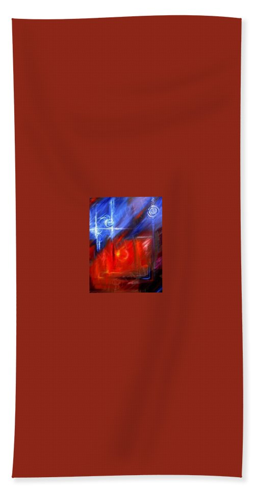 Abstracts Bath Towel featuring the painting Windows by James Christopher Hill