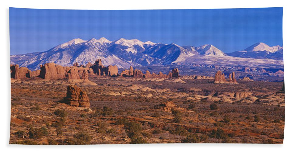 Photography Bath Sheet featuring the photograph Windows Section, Arches National Park by Panoramic Images
