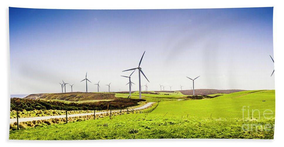 Landscape Hand Towel featuring the photograph Winds From West Woolnorth by Jorgo Photography - Wall Art Gallery