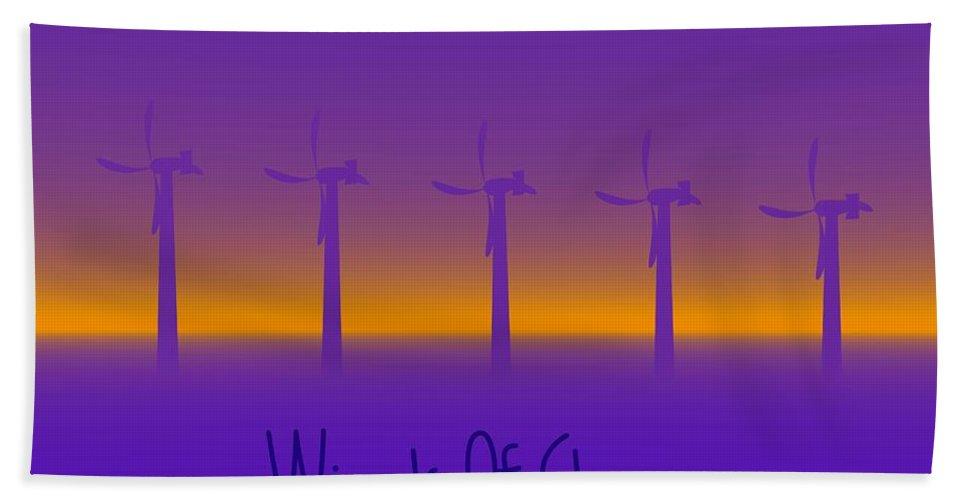 Windmills Hand Towel featuring the digital art Winds Of Change by Robert Orinski