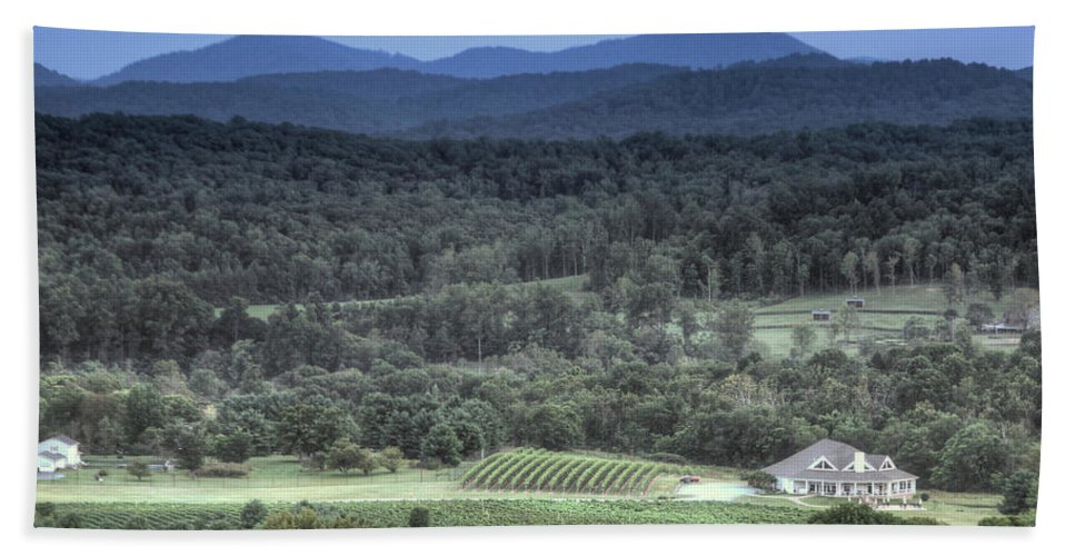 Shennandoah Hand Towel featuring the photograph Winery by MotionOne Studios
