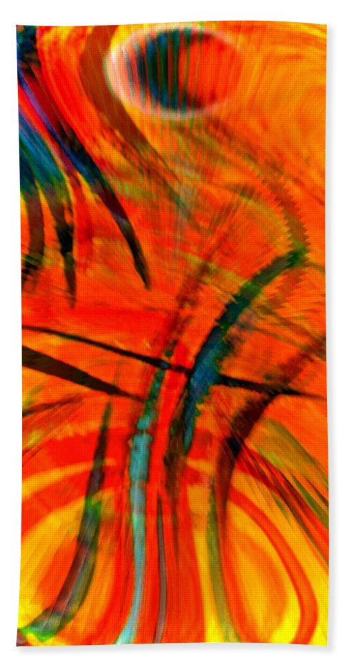 Abstract Hand Towel featuring the digital art Wings by Gwyn Newcombe