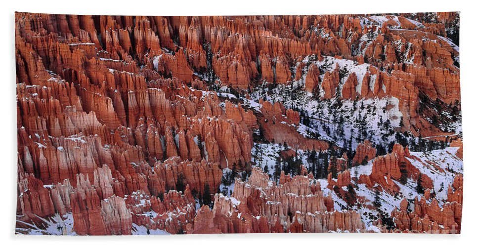North America Bath Sheet featuring the photograph Winter Afternoon At Inspiration Point Bryce Canyon National Park Utah by Dave Welling