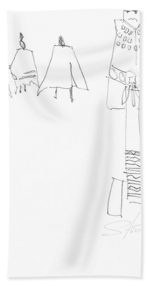 Native Americans Hand Towel featuring the painting Winter by Charles Stuart