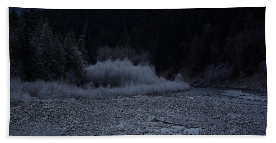 Winter Bath Sheet featuring the photograph Winter Creek by Cindy Johnston