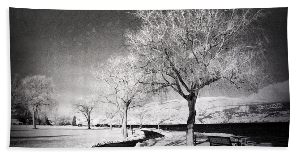 Black&white Hand Towel featuring the photograph Winter Darkness by Tara Turner