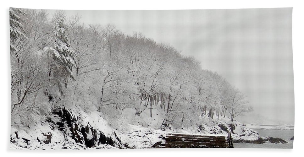 Snow Bath Sheet featuring the photograph Winter Finery by Faith Harron Boudreau