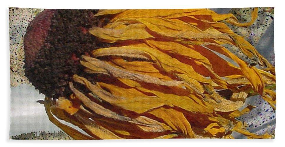 Digital Art Bath Towel featuring the digital art Winter Flower by Ron Bissett