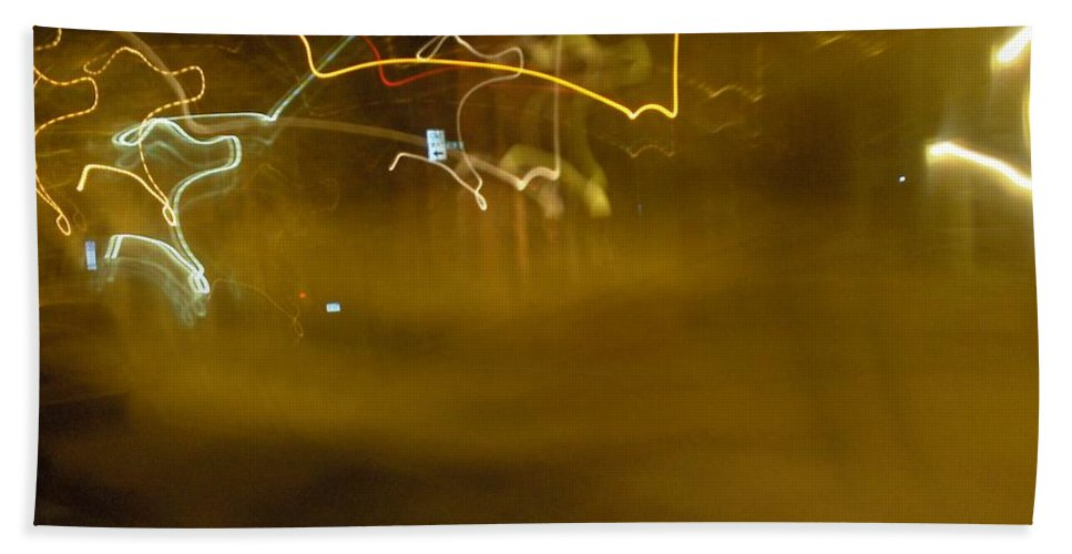 Photograph Bath Towel featuring the photograph Winter Lights by Thomas Valentine