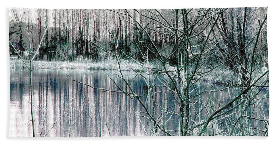 Landscape.winter Hand Towel featuring the photograph Winter by Linda Sannuti
