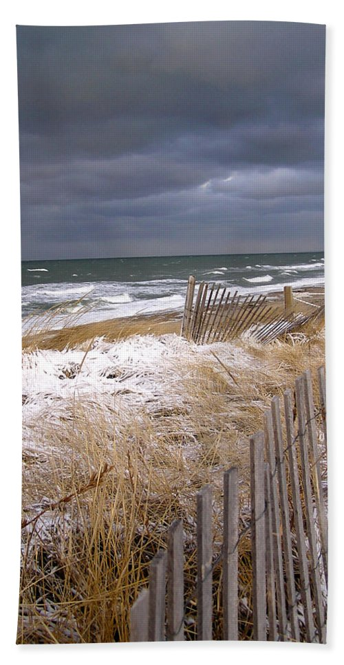 Cape Cod Hand Towel featuring the photograph Winter On Cape Cod by Charles Harden