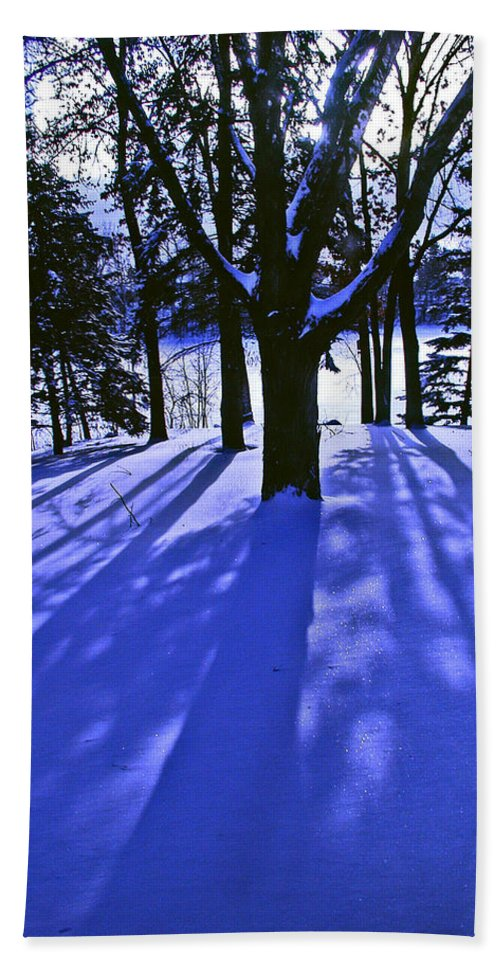 Landscape Bath Towel featuring the photograph Winter Shadows by Tom Reynen