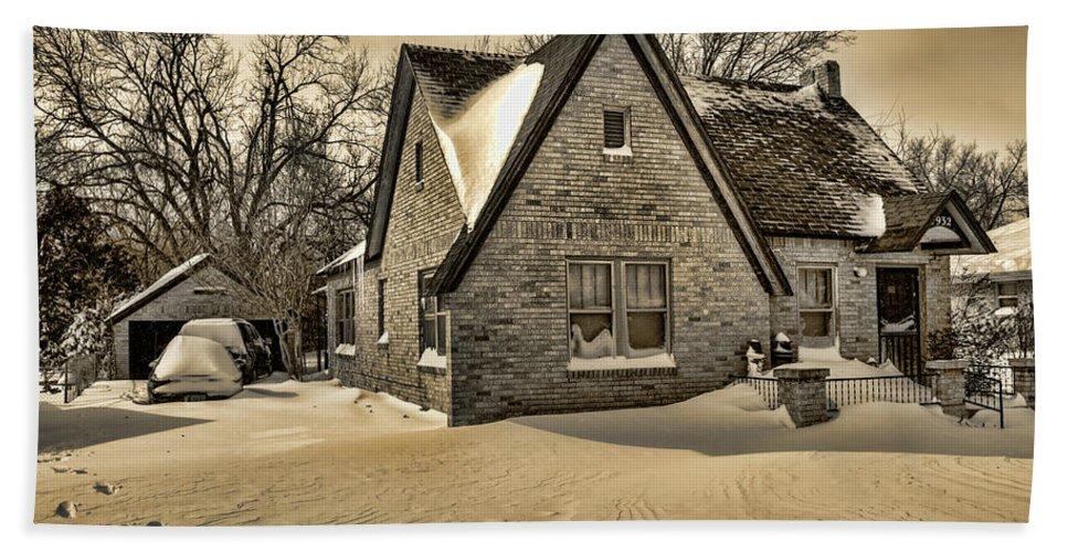 Winter Bath Sheet featuring the photograph Winter Snow II by Ricky Barnard